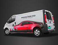KAR Skadesenter - Car Wrapping Design
