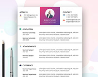 Free Marketer Resume Template with Elegant Look