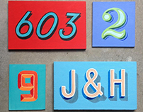 Hand Painted House Numbers