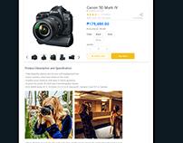UPS Online Store UI/UX - Seller side