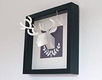 Paper Trophy Deer
