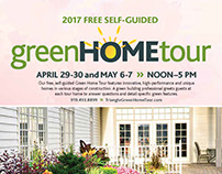 2017 Green Home Tour magazine and marketing materials