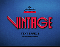 Free Retro Vintage Text Effects Vol.1