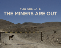 "Film titles ""THE MINERS ARE OUT"""