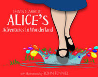 book re-design: Alice in Wonderland