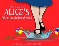 book re-design: Alice in Wonderland