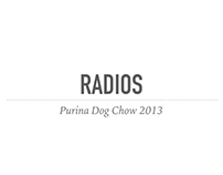 PURINA DOG CHOW radios 2013