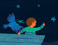 Children's Book Illustration: Song Of The Night At Sea