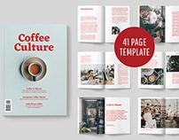 COFFEE CULTURE MAGAZINE TEMPLATE