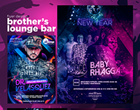 Brother's Lounge Bar | Party Flyer