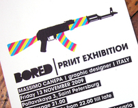 BORED | print exhibition | OIOIOI Art Gallery | 2009