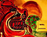 Mural en Palermo - Diablico mitologico