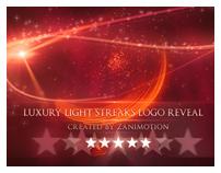 Luxury Light Streaks Logo Reveal