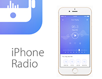 iPhone Radio App Concept Design.