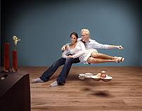 Photo shooting Kronotex. How to show an indoor floor