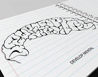 'Develop Mental' Typography