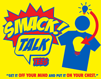 "Logo concepts for ""Smack Talk Tees""."