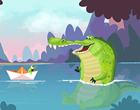 Croc and Paperboat