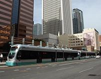 Phoenix Arizona USA Light Rail Vehicle