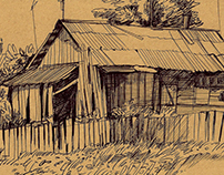 On the Belarusian village, sketches