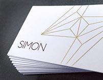 Simon & Associates Advertising Business Card