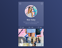 User Profile UI