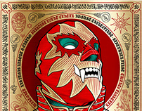 EXPO LUCHA! Screen-Printed Event Poster