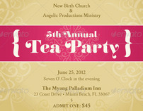 Tea Party Mini Ticket Template On Behance  Party Ticket Template
