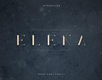 Elena Luxe Serif font   free font