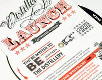 The Distillery Letterpress Launch Invite