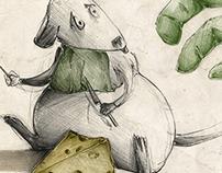 História do Rato na Loja • Ilustração