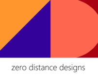 Zero Distance Designs