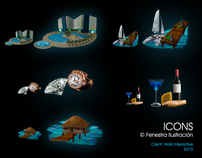 Mayan Compass Icons