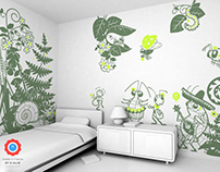 keep off the grass ! :: children's wall decals