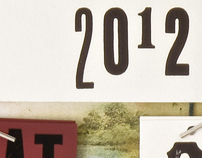 Letterpress printed Calenders on recycled vinyl covers