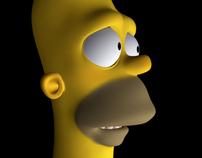 MODEL 3D · Homer 's Head