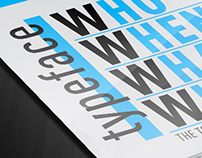 Typeface Who When What Where | infographic