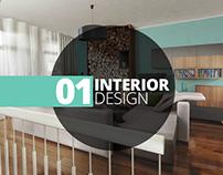Interior Renders Amsterdam Apartment