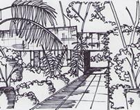 CF- Entrada a la Casa Sarabhai - Arq Moderna - 2013 2