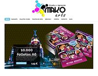 Makoarts (folletosmadrid.es) web hecha en Wordpress