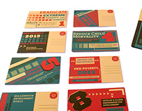 Millenium Development Goals Postcard Design