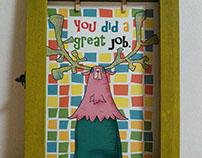 Art poster Reindeer