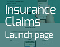 Insurance Claims - Launch page
