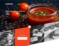 Web design for a food distributor in Belgium