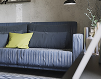Альтернативный вариант мансардной квартиры 33 кв.м