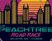 AJC Peachtree Road Race 2018 - logo design entry