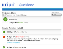 QuickBase Service Page