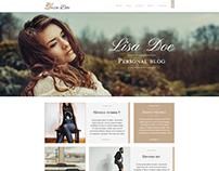 Lisa Doe - Personal Blog Themeforest PSD Template