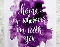 Calligraphy for home