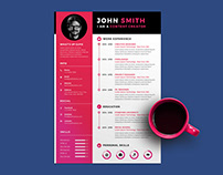Free Creative Timeline Resume Template